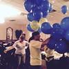 Prep Untangling balloons Debi Drollinger Calabrese '71, Sandie Drake Quick '70, Sue Waterman Burr '71