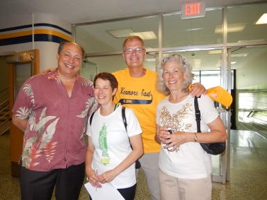 Dave Lindeman, Terry DeBruin, Jack Kozuchowski, and Sherry West all class of '70