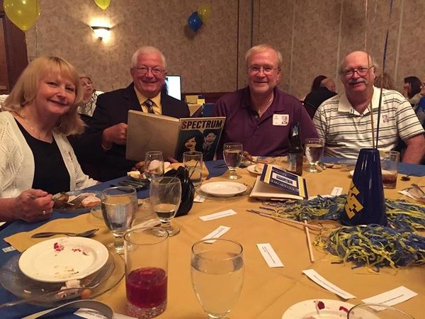 Nancy Zimmerman Czombel, Mike Czombel, Bill Wolfe, Joe Gerrie all from '68