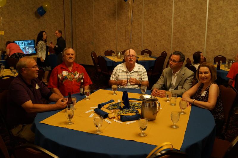 Bill Wolfe '68, Chuck Fancourt '68, Joe Gerrie '68, Richard Morrison, Nancy Laier Morrison '68, Jeanne Perrin, Karen Adam, Ken Feld in background