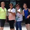 KE's new cheerleading squad Kathy Fisher Goudeket '70, Margie Stanton Benevento '70, Lynn Badgley Astridge '69, Lynn Shields '70