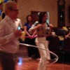 Gary Baker and Diane Shoot Dusek '70, hooping it up