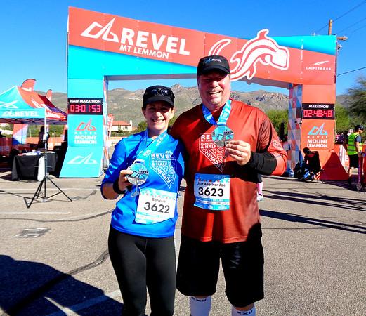 REVEL Mt Lemmon AZ Half Marathon, Tucson AZ November 3, 2018