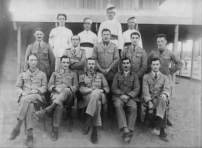 Officers of No 3  Mess, 3rd Echelon, GHQ, Basra