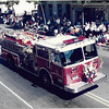"""Engine 1 during the 1985 state convention. Photo by Carl """"Pete"""" Moyer"""
