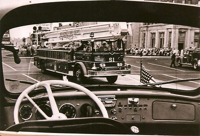 Snorkel 1 makes its first debut in 1968. This photo was captured through the windshield of the Washington Ladder 2. Photographer unknown.