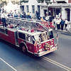 """Ladder 1 during the 1985 state convention in Reading.  Photo by Carl """"Pete"""" Moyer"""