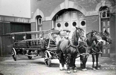 The ladder wagon shown in 1892. Photographer Unknown, scanned by Anthony Miccicke.