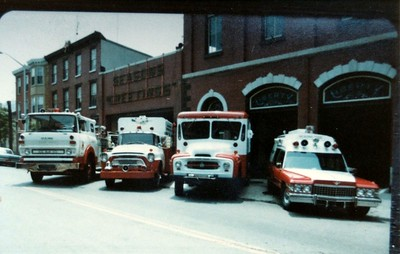 Liberty Apparatus with Reading Hose Ambulance 95. Photo courtesy Liberty Fire Company, scanned by Anthony Miccicke.