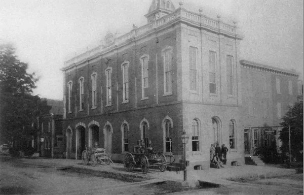 The company's house in the 1890's prior to the 3rd floor addition. Photo courtesy of the Liberty Fire Company