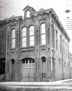 The company's new building in 1898 at 3rd and Court Streets. Photographer unknown, scanned by Anthony Miccicke.