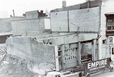 The demolished Reading Hose Fire Station, photo courtesy of Reading Hose Fire Company.