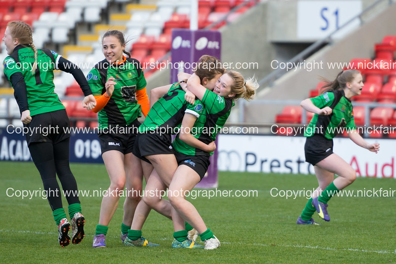 "RFL Champion Schools National Year 11 Girls Final, Castleford Academy 22 - 30 Sirius Academy, Leigh Sports Village Stadium,  Tuesday 26th April 2016.  Picture by  <a href=""http://www.nickfairhurstphotographer.com/RFL"">http://www.nickfairhurstphotographer.com/RFL</a>"