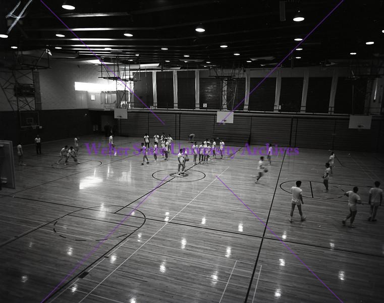 Basketball practice 1963-64