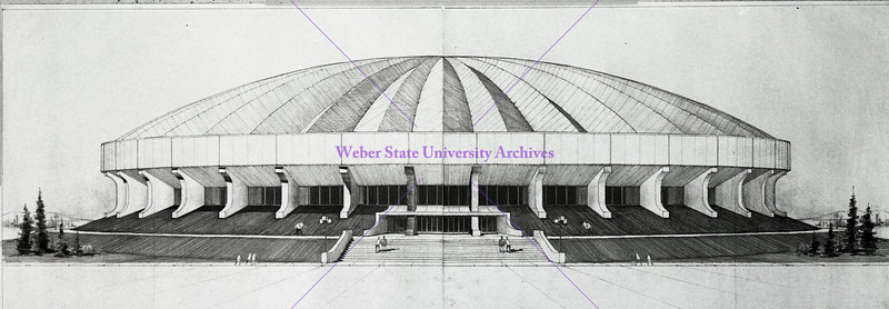 Dee Events Center plan sketch 1972
