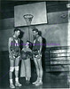 Basketball players and woman 1949-1950