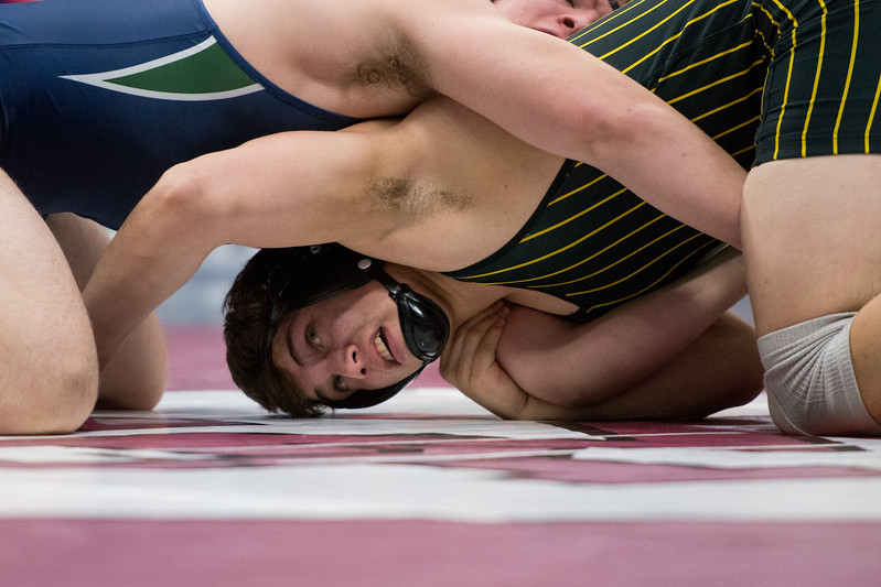 Thompson Valley's Matthew Dunkelman competes during the 4A state wrestling tournament Saturday Feb. 17, 2018 at the Pepsi Center in Denver. (Cris Tiller / Loveland Reporter-Herald)