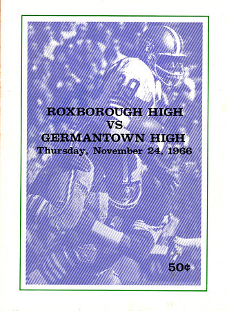 1966 Germantown Game Program