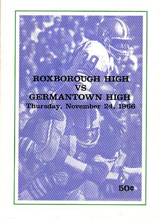 1966 Germantown Game Program