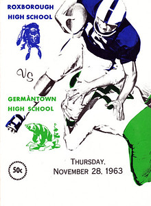1963 Germantown Game Program