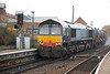 66 416 brings up the rear of 3S10 heading for Low gates