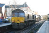 66 428 <br /> <br /> leads across the crossing with <br /> <br /> 66 427 <br /> <br /> on the rear