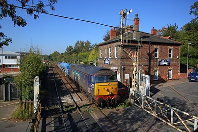 57002+57003 on the 3S01 Stowmarket circular via Cromer, Great Yarmouth and Ely at Brundall on the 10th October 2018 1