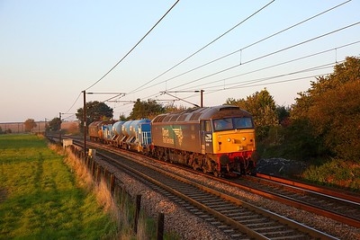57002+57003 on the 3S01 Stowmarket circular via Cromer, Great Yarmouth and Ely at Dagworth, Stowmarket on the 10th October 2018