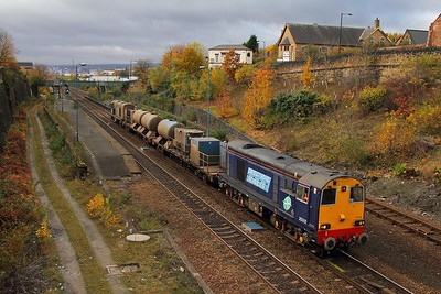 20312 tnt 20301 at Brightside with 3S14 1131 Sheffield to Wakefield Kirkgate on the 8th November 2012