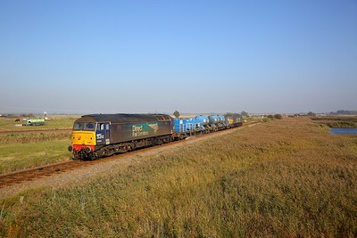 57003+57002 on the 3S01 Stowmarket circular via Cromer, Great Yarmouth and Ely at Breydon Water on the 10th October 2018