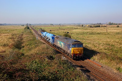 57002+57003 on the 3S01 Stowmarket circular via Cromer, Great Yarmouth and Ely at Stracey Arms on the 10th October 2018