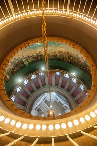 Looking down into the atrium from the top of the dome