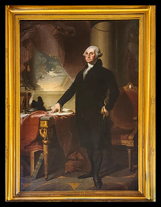 George Washington painting in the State Room by Gilbert Stuart