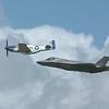 F35 & P-51 Flypast