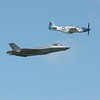 P-51 & F-35 Flypast