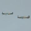 BBMF Spitfire & Hurricane in formation