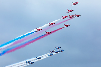 Red Arrows and Patrouille de France  7-20-19