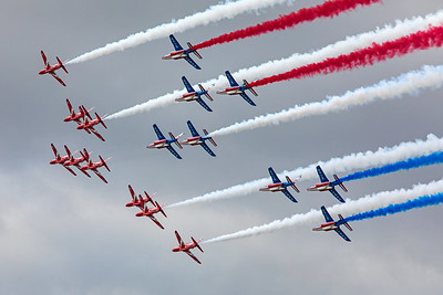 Red Arrows and Patrouille de France  7-20-19 2