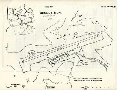 GRUNDY, GRUNDY MUNICIPAL AIRPORT (GDY), MAP