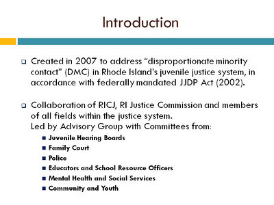 Intro to Juvenile Justice Project
