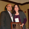 Presenter Dr. Rick Quiles and Awardee Kate Bramson