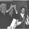 1989, first Metcalf award to The Call, Frank Howe (with Charlotte Metcalf)