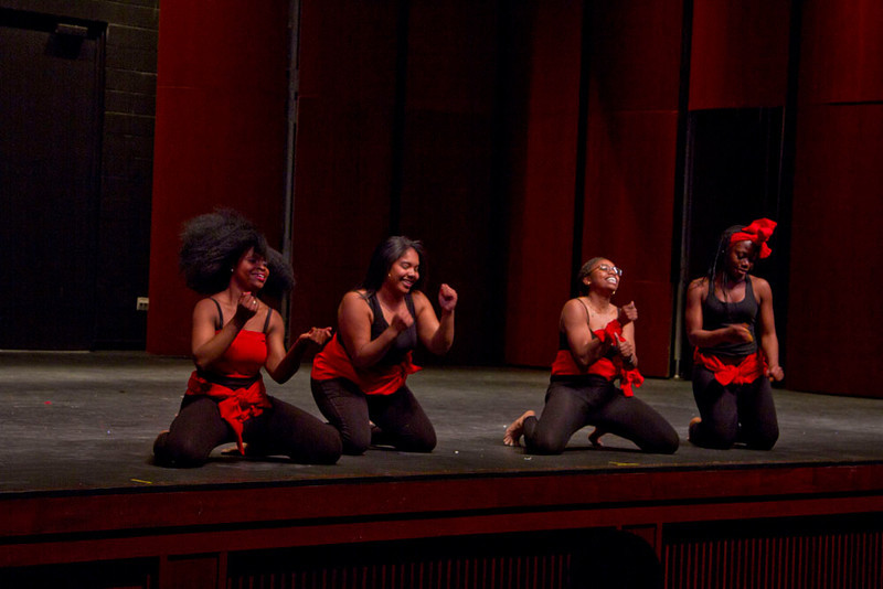 "Dance titled ""Salamalecum & Soukous"" performed by URI's ALIMA Dance group."