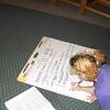 Jillian at work preparing flipcharts