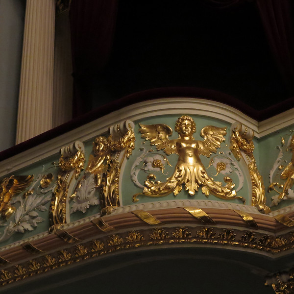 Detail from the interior, Latvian Opera House in central Riga