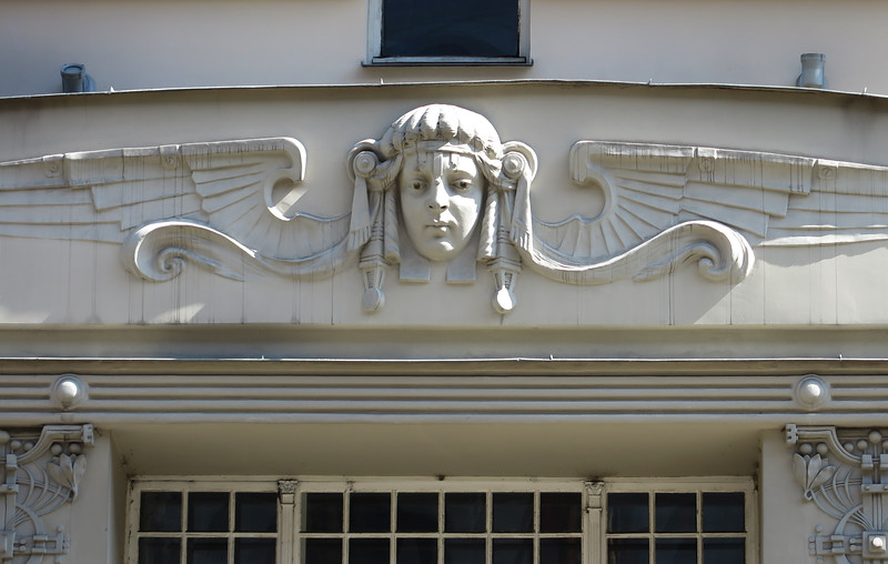 Detail, art nouveau decorative fond element