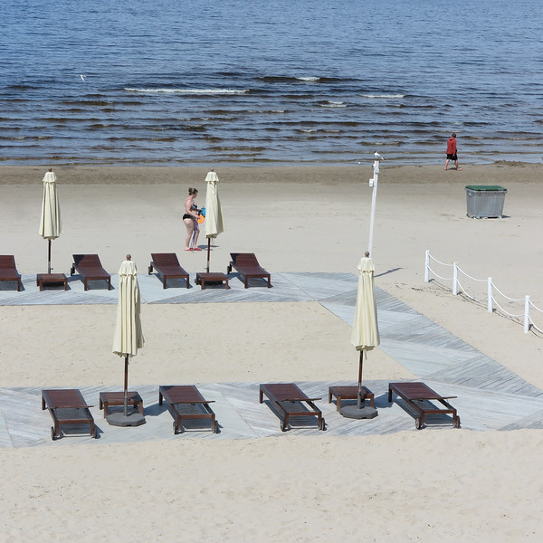 Jurmala beach, the Latvian riviera