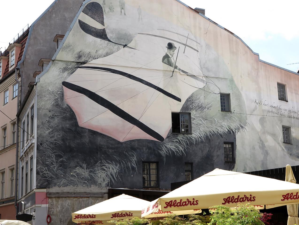 Street art in Riga, Latvia