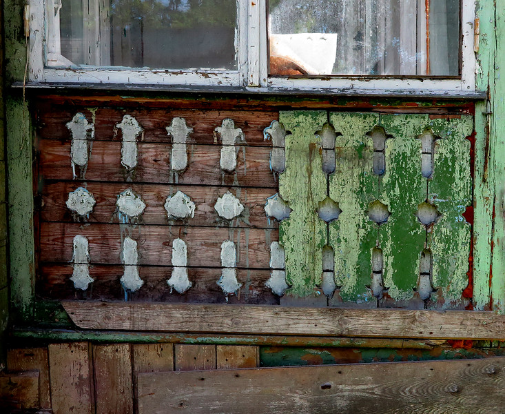 Jurmala, Latvia, detail from a neglected summer house