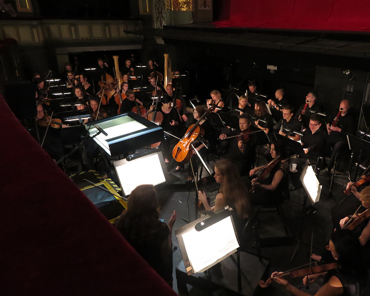 The orchestra pit at the Latvian Opera House in Riga